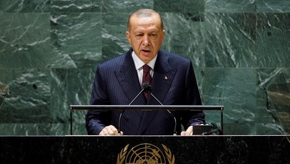 """Erdoğan BM'de konuştu: """"Ada'daki iki eşit halktan birinin liderinin bu platformda sesini duyuramaması adil değil"""""""