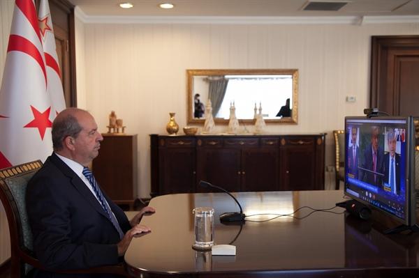 """Cumhurbaşkanı Tatar: """"Kıbrıs Türkü'nün güvenlik ve özgürlüğünden asla taviz verilemez"""""""