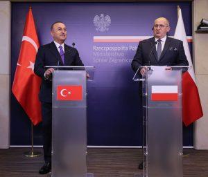 TC Dışişleri Bakanı Mevlüt Çavuşoğlu ve Polonya Dışişleri Bakanı Zbigniew Rau