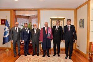 Cumhurbaşkanı Ersin Tatar Anadolu Üniversitesinin (AÜ) 2021-2022 Akademik Yıl Açılış Törenine katıldı